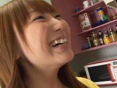 Mejor japonés chick Mana Kamishiro en Loco POV JAV video